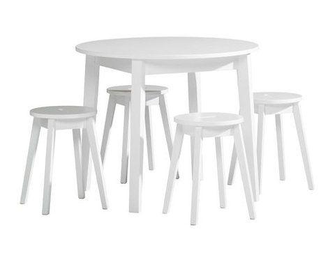 Emilia Pöytä Pyöreä 90 Valkoinen