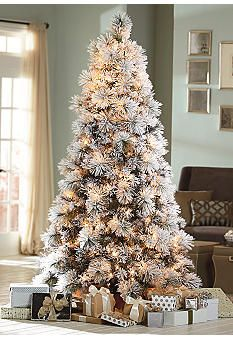 13 best Flocked Christmas Trees images on Pinterest | Merry ...