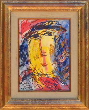 Pellón Gina : Pintura sobre tela : Retrato de mujer