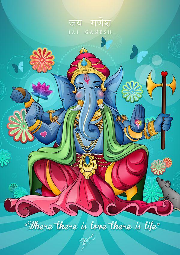 GANESH JI Vector by vik kainth on Behance