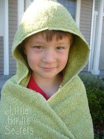 Little Birdie Secrets: hooded bath towels for kids