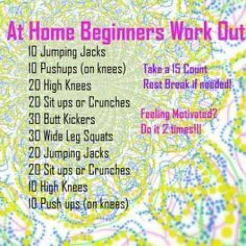 easy workouts for beginners - Google Search | Goal: Lose