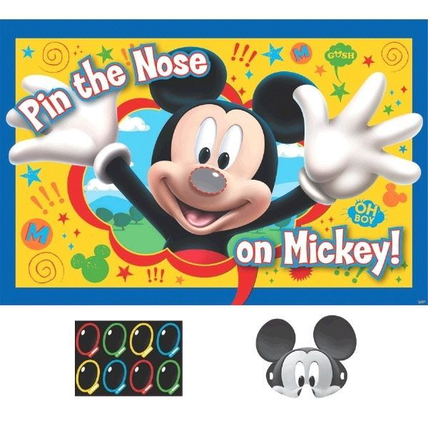 DISNEY MICKEY MOUSE PARTY SUPPLIES PARTY GAME FOR 2 - 8 PLAYERS