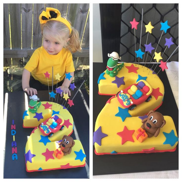 A colourful cake creation for Indiana's Wiggly party! #thewiggles #wigglyparty #wigglesparty #partyideas #wigglescake #wigglesbirthday
