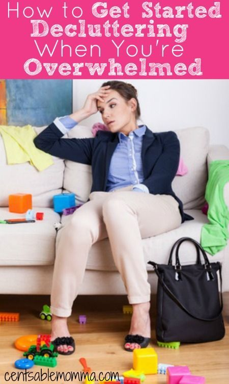 Have you ever wanted to organize and declutter your house, but the project just seems to big and you get overwhelmed?  You can use these 5 tips to help you get started decluttering when you're overwhelmed for some tips and tricks to set you up for success.