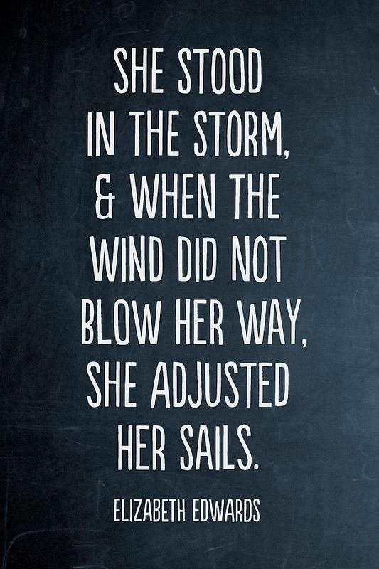 She adjusted her sails. {One of my favorites in recent months}