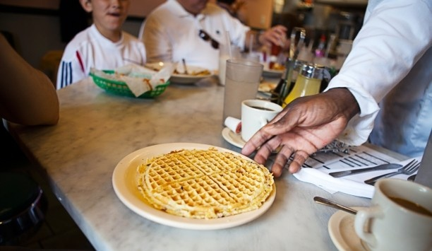 A New Orleans Mystery Hotel: For a more substantial breakfast, head to Camellia Grillâs breakfast bar for the pecan waffles.