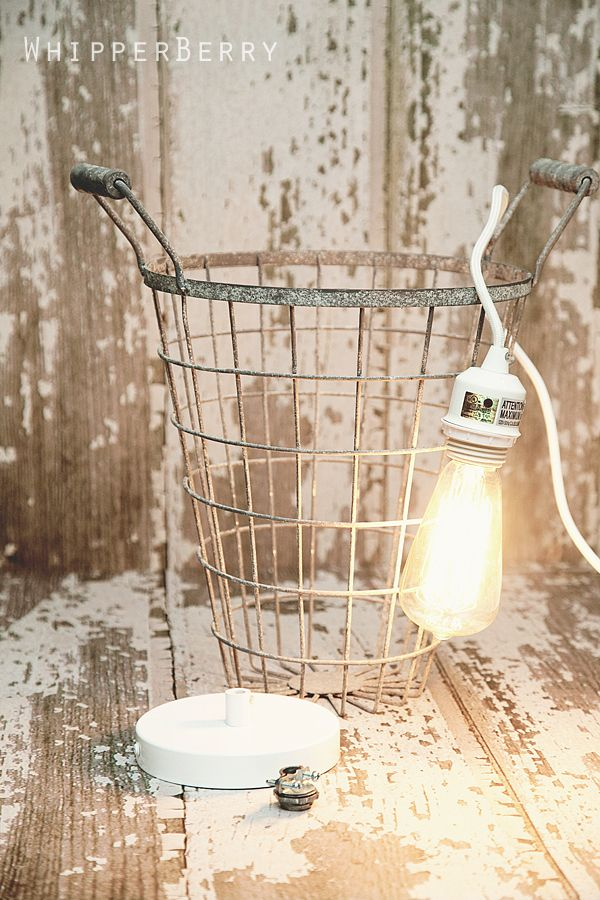 Cool diy on metal wire basket pendant lights crafty for Cool diy chandeliers