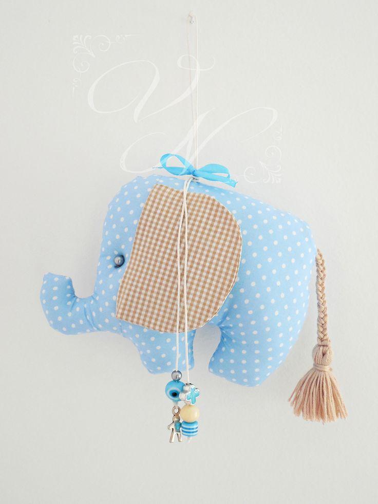Χειροποίητο υφασμάτινο φυλαχτό για νεογέννητα μωράκια (15,5 cm × 11 cm) - Handmade fabric lucky charm for newborn babies