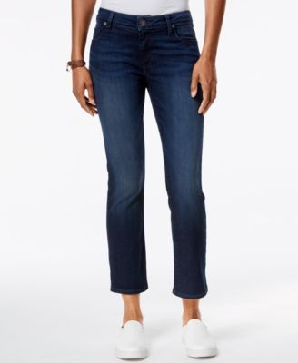 Kut from the Kloth's Reese jeans combine a cute cropped leg with a flare silhouette that goes great with everything from canvas sneakers to wedge sandals. | Cotton/polyester | Machine washable | Impor