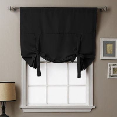 "Thermal insulated blackout tie-up shade 63"" - $20 @ Wayfair"
