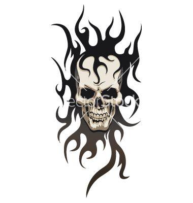 Skull tribal tattoo vector 89637 - by GrafiStart on VectorStock�
