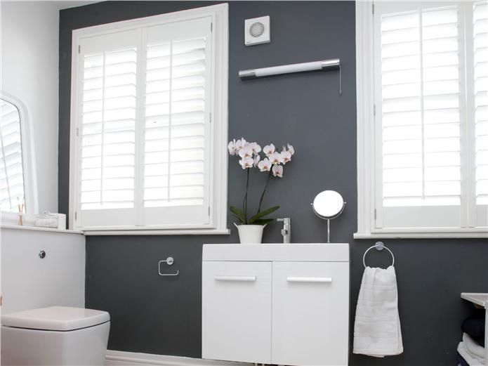 Blue Bathroom Ideas Gratifying You Who Love Blue Color: Farrow And Ball Downpipe Coloured Bathroom