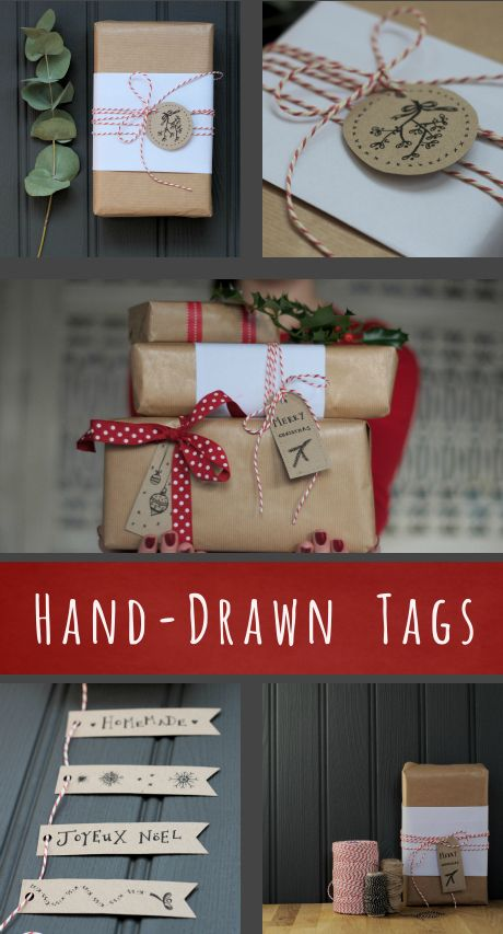 printable hand drawn gift tags