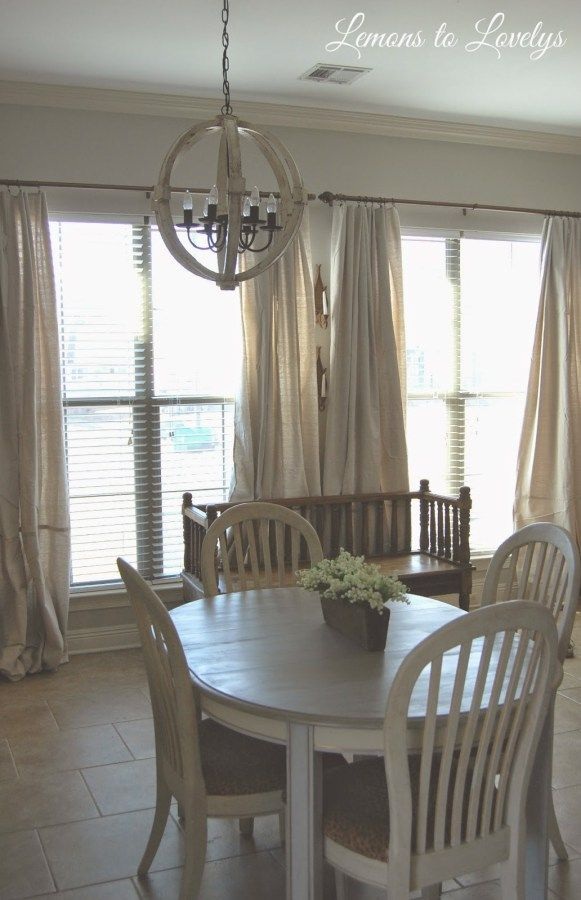 Easy No Sew Drop Cloth Curtains WITH PLEATS