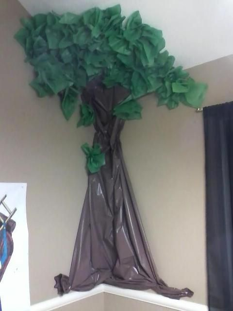Legend of Zelda tree. You could have the chuchus on it and have them use rubber band slingshots to take them down.