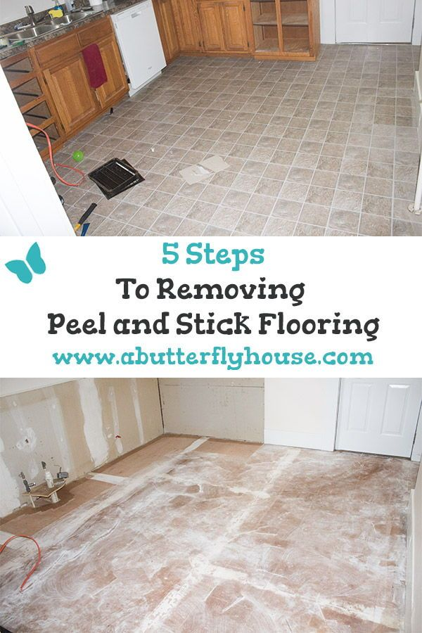 How To Remove Peel And Stick Floor Tile A Butterfly House Peel And Stick Floor Window Cleaning Tips House Cleaning Tips