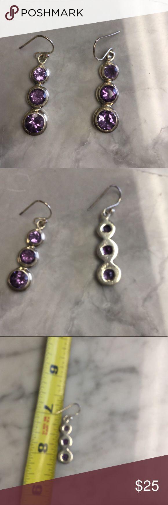 Selling Silver & amethyst earrings Butiful Jewelry Earrings