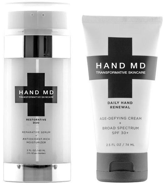 Hand MD is een dual behandeling die droge, gebarsten handen helpt revitaliseren. De anti-aging serum en antioxidant-rijke moisturizer formules helpen om diep in de huid te hydrateren en de soepelheid te herstellen.