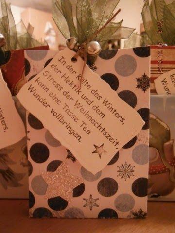 Cathis kleine Bastelecke: Tee-Goodies...