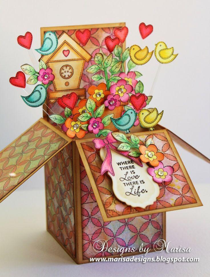 Pop Up Box Card  Found on Blog: Designs by Marisa  Presented by Weekly Scraper Leann O.