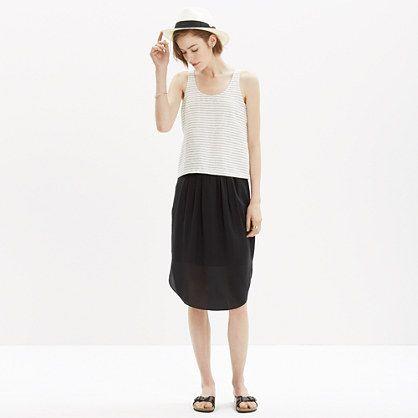 Need this shirt tail hem skirt! Madewell - Silk Island Skirt
