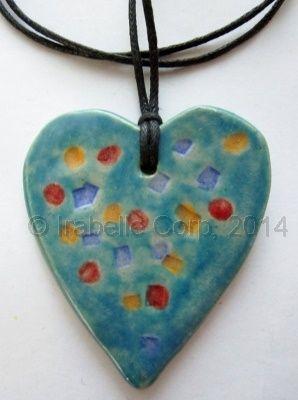 Confetti Heart ceramic pendant by Tulipe Studios. See more at:  https://www.facebook.com/TulipeStudios