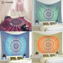 Indian Mandala Tapestry Wall Hanging Multifunctional Tapestry Boho Printed Bedspread Cover Yoga Mat Blanket Picnic cloth //Price: $US $8.20 & FREE Shipping //