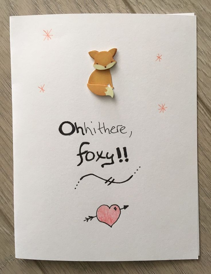 A personal favorite from my Etsy shop https://www.etsy.com/ca/listing/280702002/foxy-card-ohhithere-blank-inside