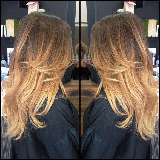 Balayage Ombre Hair.