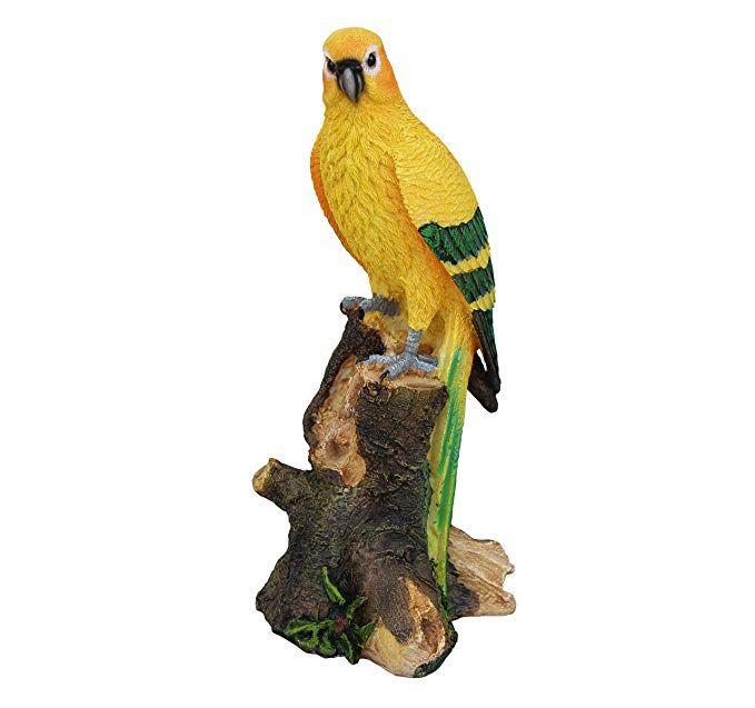 Garden Sculpture - Metal garden animals Metal  Parrot terrace decor