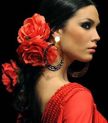 Flamenco Dancer in burnt orange
