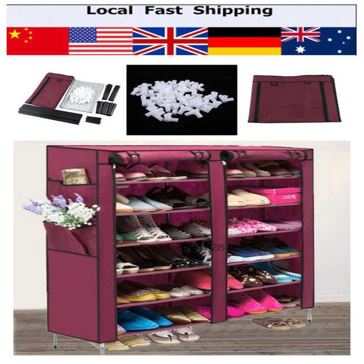 6 Capa 12 Rejilla No tejida Del Zapato Zapatos Gabinete de Almacenamiento Organizador Del Armario de Almacenamiento Estante Muebles Estanteria Zapatero