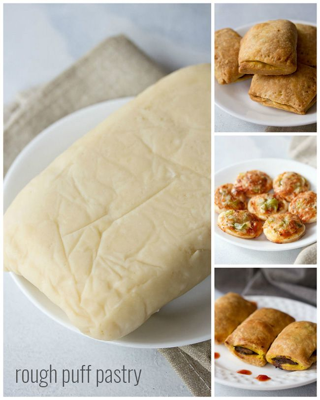 easy puff pastry recipe, how to make rough puff pastry recipe