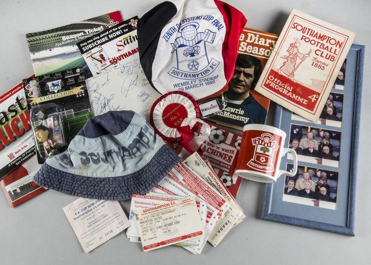 Southampton FC, approximately seventy programmes 80/90s, one 1959 V Norwich, a variety of