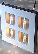 Airam Jouluikkuna kynttilätaulu tämmöinen tai samantapainen, väreinä käy puu, valkoinen, punainen