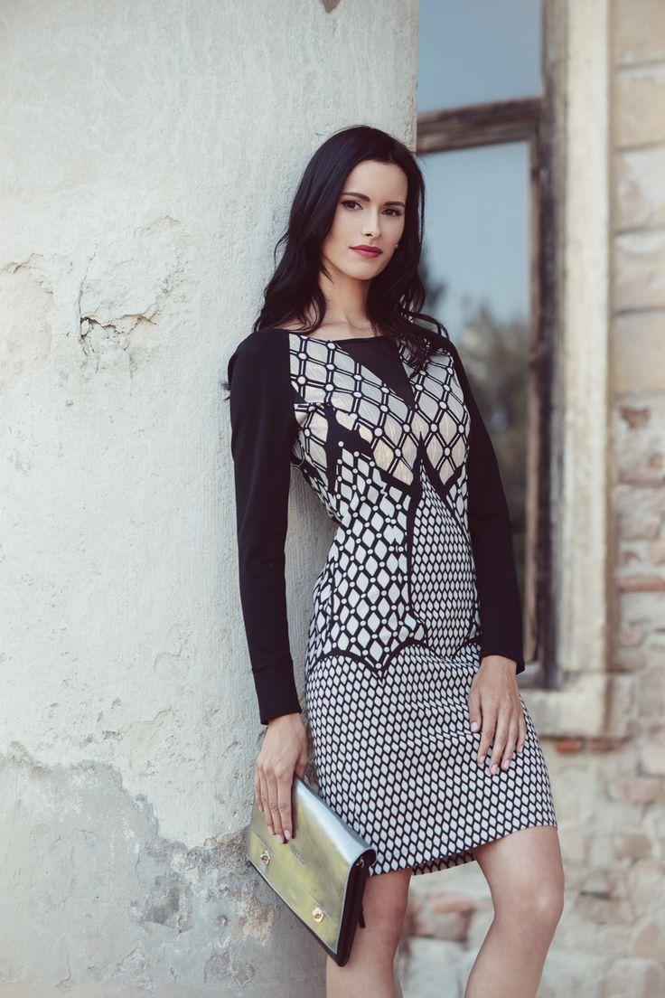 #magentafashion #blackdress #autumn #prefall14 #fashion #campaign #dress #womendress #patterned #highfashion #fashionphotography