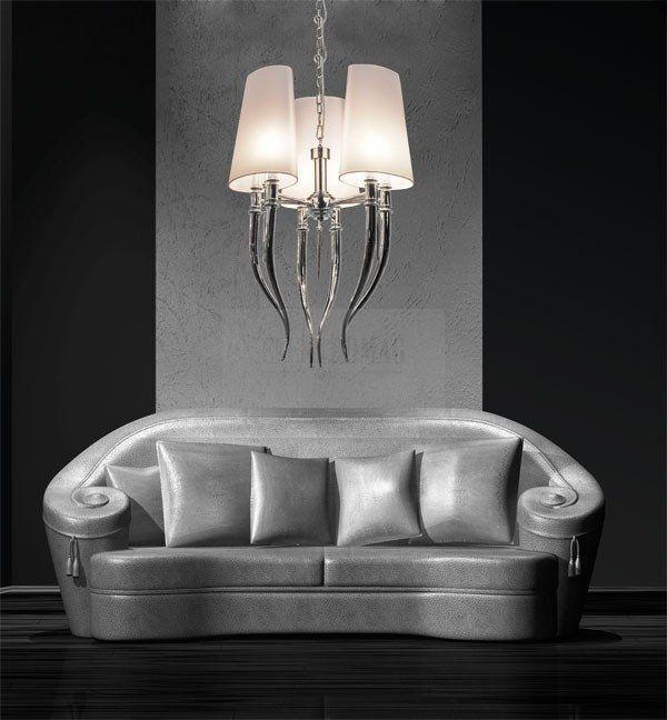 AZZARDO LAMPA WISZĄCA DIABLO 3 AD 8074-3 : Lampy wiszące z abażurem : Sklep internetowy Elektromag (#glamour #lamp)
