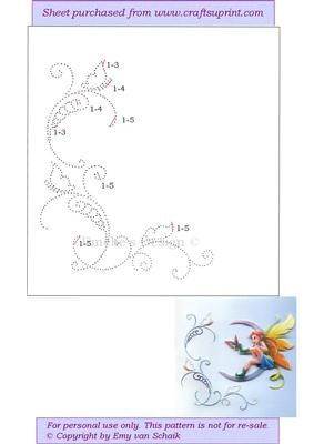 ED108 Butterfly border on Craftsuprint designed by Emy van Schaik - Stitching - Now available for download!