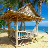 tiki pergola | Bamboo Gazebo, Tiki Bar, or Hut for the Garden