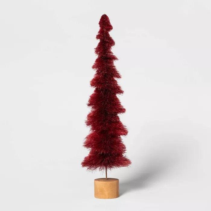 16 5 X 4 7 Bottle Brush Christmas Tree Red Bottle Brush Christmas Trees Bottle Brush Christmas Tree