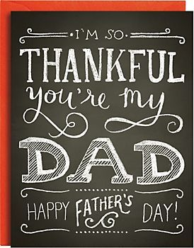 Chalkboard Father's Day Card