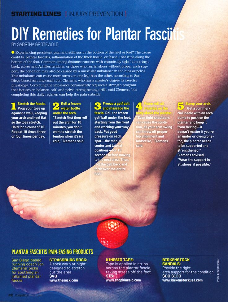Easy remedies for plantar fasciitis