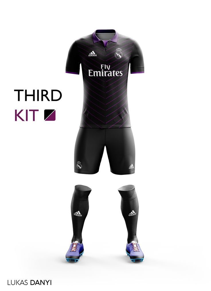 I designed football kits for Real Madrid CF for the upcoming season 16/17.