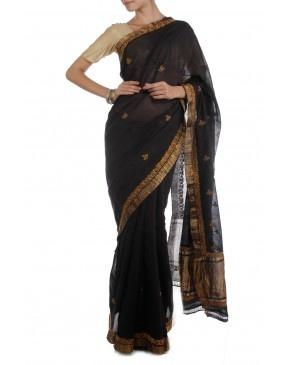 Black Saree by NTS
