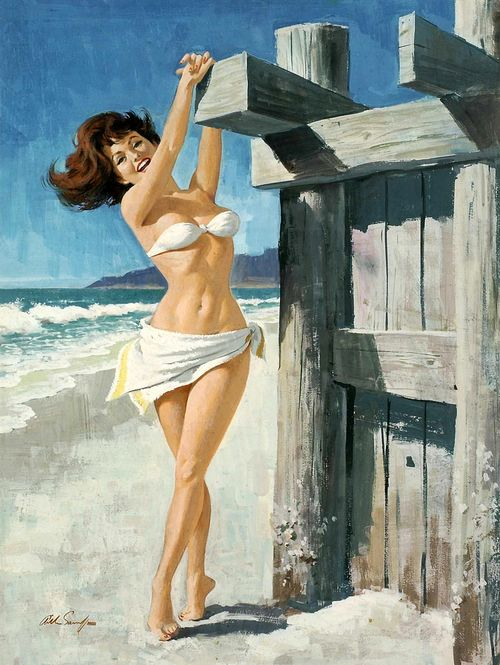 Arthur Sarnoff Vintage Pin Up Girl Illustration   Pin-Up Girls   Sugary.Sweet   #PinUp #Art #Vintage #Illustration