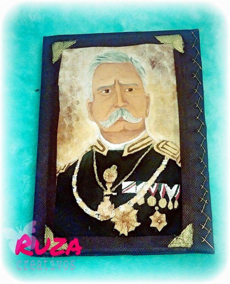 Porfirio Díaz  Libreta pintada a mano