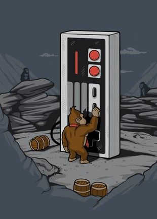 Donkey Kong finds the Nintendo Monolith that brings home consoles back to life!