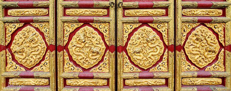 https://flic.kr/p/SQZa6i | Dragon Doors. | Forbidden City, Palace Museum, Beijing, China, November 2016.