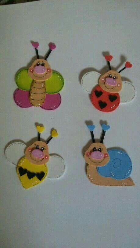 Insectos en goma eva